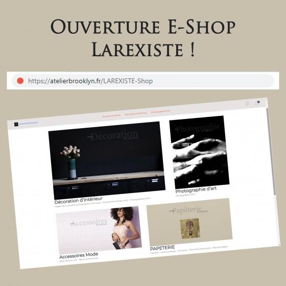 Ouverture e-boutique : LAREXISTE-Shop